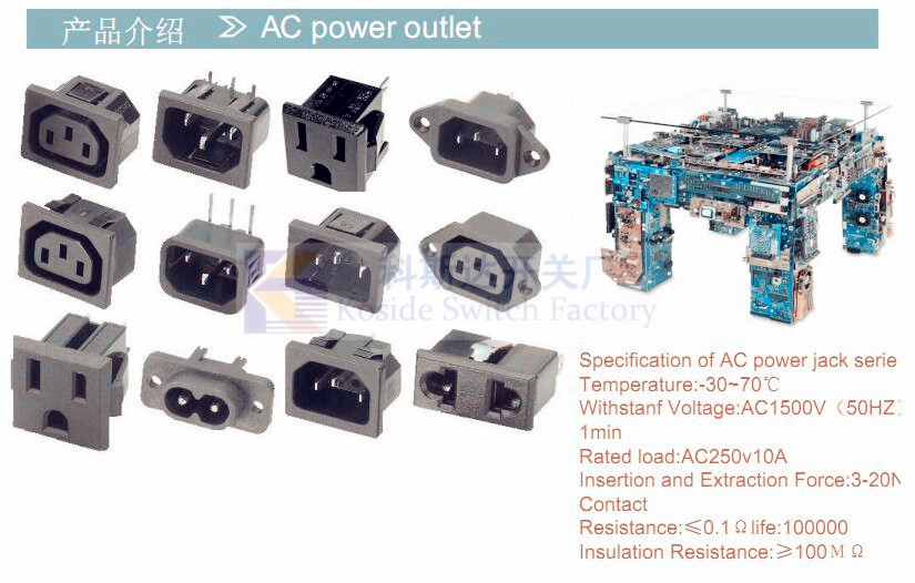 AC power outlet 10A 15...